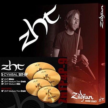 """Kit de Pratos Zildjian ZHT ZHTR 4 P 9 14"""" 16"""" 18"""" 20"""""""