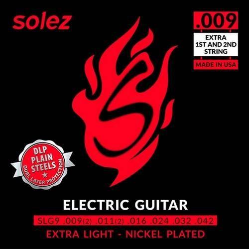 Encordoamento Solez Guitarra SLG09 DLP 009 Nickel Plated