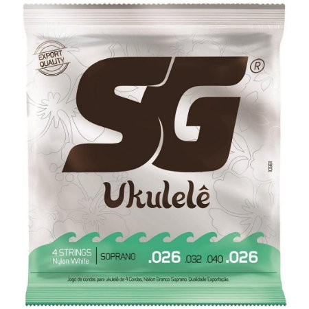 Encordoamento SG Ukulele Soprano Nylon 026