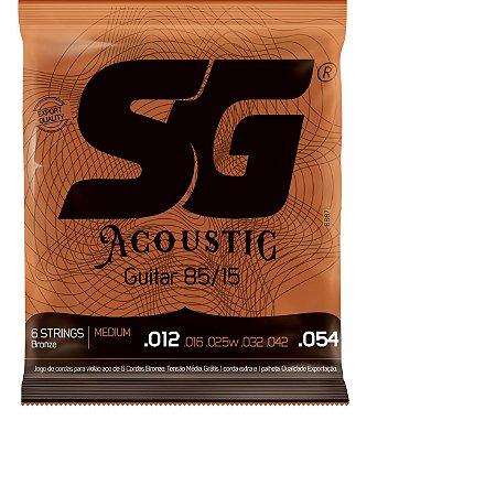Encordoamento SG Violao Aço 012 SG6687 Bronze 85/15