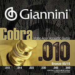 Encordoamento Giannini Cobra para Violão Aço 010 GEEFLE