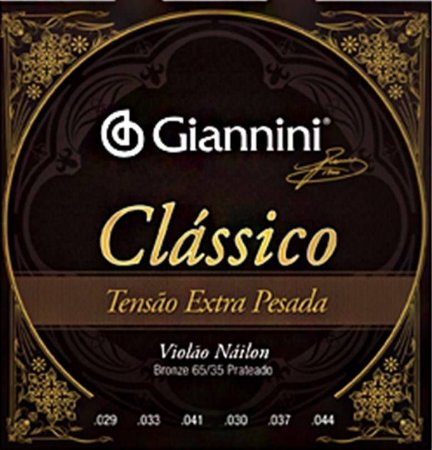 Encordoamento Giannini Classico para Violao Nylon Tensão Extra Pesada GENWXPA
