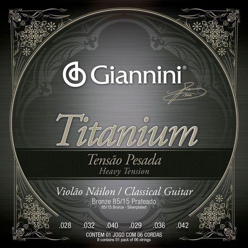 Encordoamento Giannini Titanium GENWTA para Violao Nylon Tensao Pesada