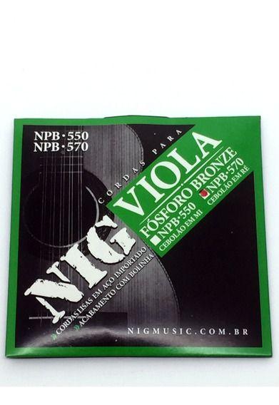 Encordoamento Nig Viola 10 Cordas NPB-580 Leve