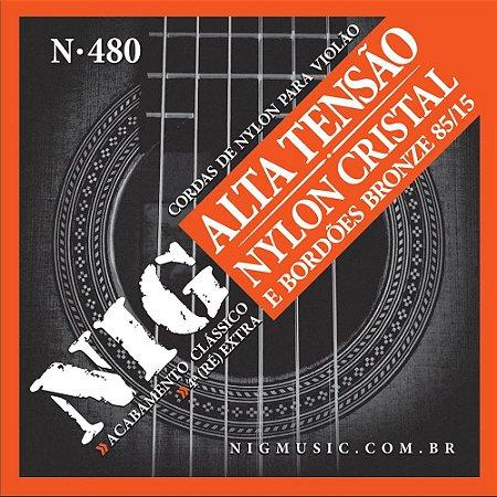Encordoamento Nig Violao Nylon N-480 Bronze Alta Tensão