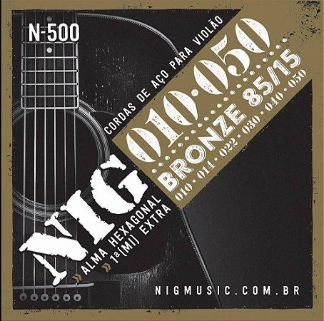Encordoamento Nig Violao N-500 010 Bronze 85/15