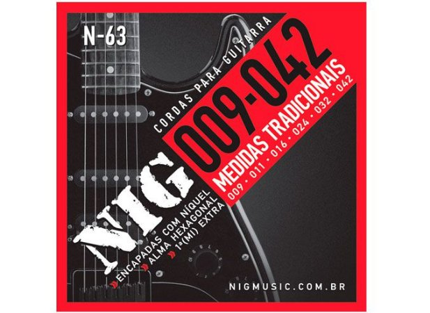 Encordoamento Nig Guitarra 009 N-63