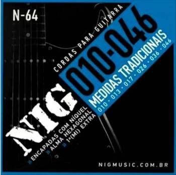 Encordoamento Nig Guitarra 010 N-64
