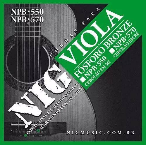 Encordoamento Nig Viola NPB-550 Cebolão MI