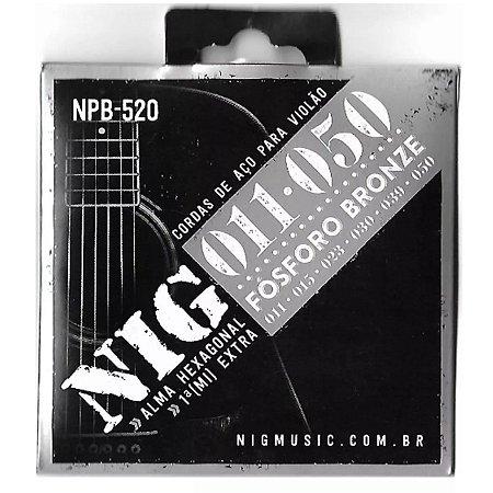 Encordoamento Nig Violao NPB-520 011 Fosforo/Bronze