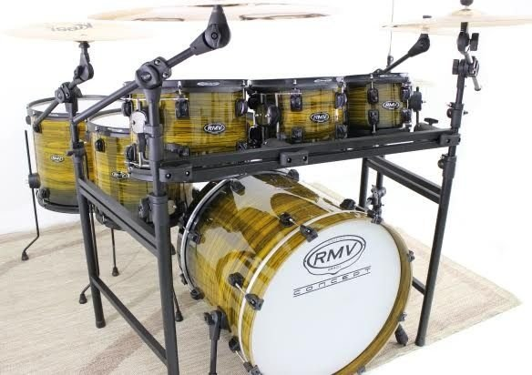 Bateria RMV Concept X5 Yellow Zebrano PXK22913 - Rack/3 Tons