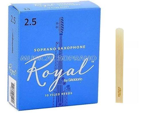 Palheta Rico Royal Sax Soprano 2.5 RIB1025 UNID