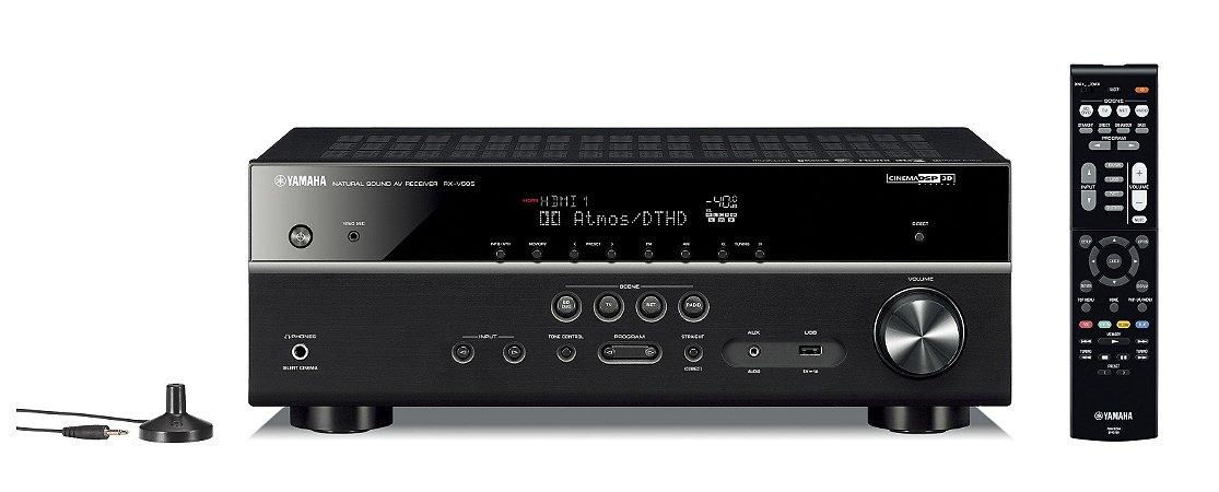 Receiver Yamaha RX-V585BL 7.2 com Musicast