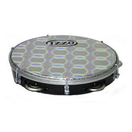 Pandeiro Izzo ABS Preto Pele Metalizada 10