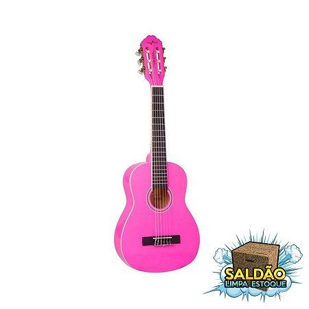 Violao Vogga VCA 95 3/4 Nylon Infantil Rosa