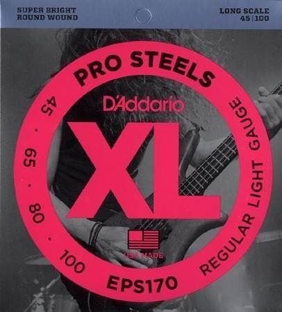 Encordoamento Daddario Baixo ProSteels EPS170 4 Cor 045