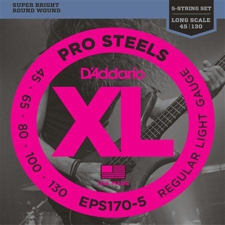 Encordoamento Daddario Baixo ProSteels EPS170-5 5 Cordas 045