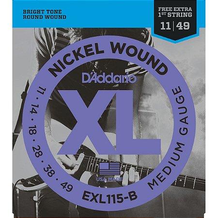 Encordoamento Daddario Guitarra EXL115 B+PL011