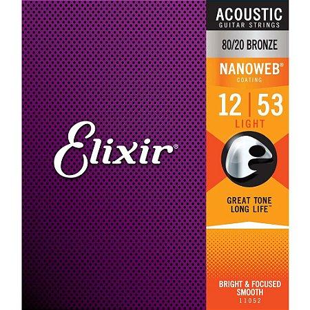 Encordoamento Elixir Violao Aço Nanoweb 012-053 Light