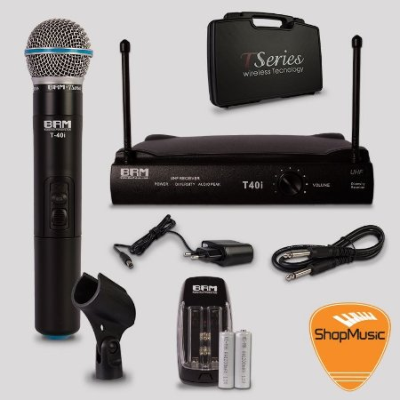 Microfone sem Fio BRM T40i Bastão