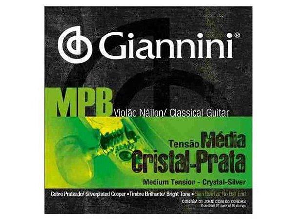 Encord Giannini MPB GENWS Violao Nylon Crist/Prata