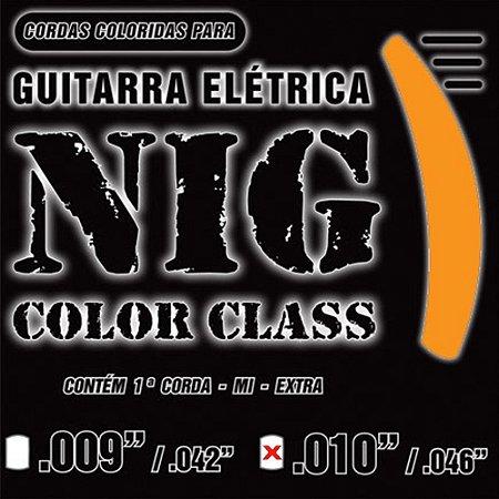 Encordoamento Nig Guitarra 010 N-1642 Laranja
