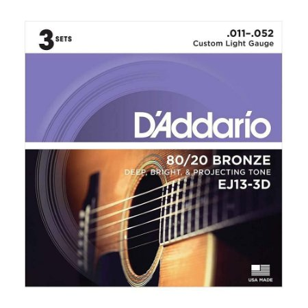 Kit Encord Daddario EJ13 p/ Violao c/ 3 und
