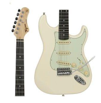 Guitarra Tagima Woodstock TG-500 OWH DF/MG Branco Escala Escura Escudo Claro