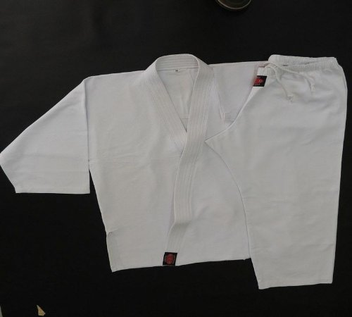 Dogui - 100% Poliester Gabardine - Conjunto Aikido - Branco