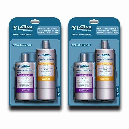 KIT 02 - Filtro Refil P635 e P655 para Purificador de Água Latina (Original)