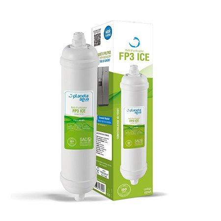 Filtro Refil FP3 ICE para Geladeiras e Refrigeradores Side By Side (Similar)