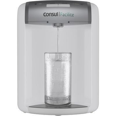 Purificador de Água Consul Facilite CPB35AB Branco e Prata C/ Eficiência Bacteriológica - Refrigerado (Bivolt)