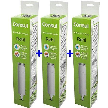 KIT 03 - Filtro Refil CIX01AX  para Purificador de Água Consul - CPC30, CPB35 e CPB36 (Original)
