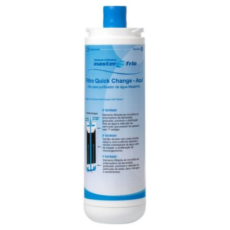 Filtro Refil Rótulo Azul para Purificador de Água Master Frio (Original)