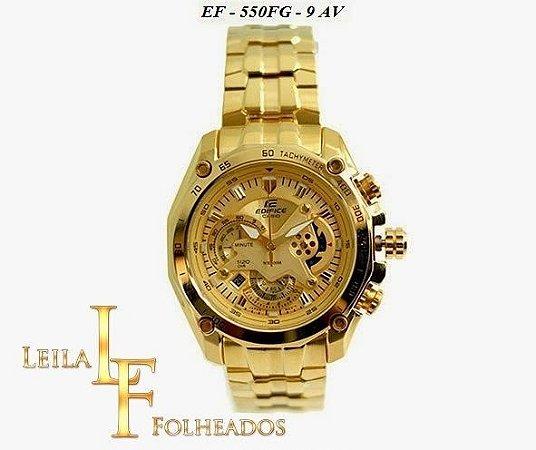 Relógio Casio Edifice Ef-550fg-9av / 7av / 1av Gold Edition