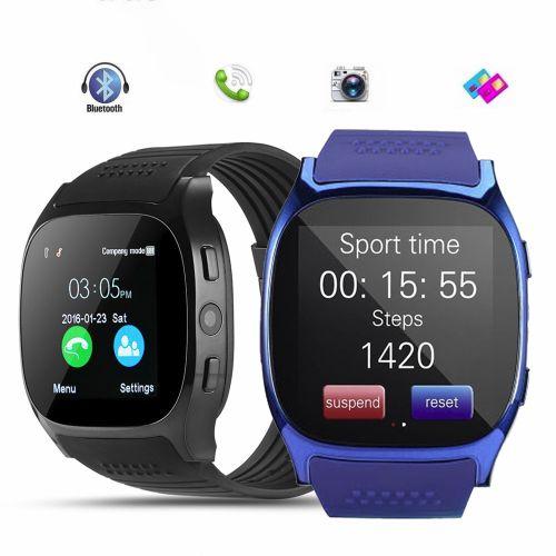 Smartwatch T8 em 3 cores azul, preto e Branco