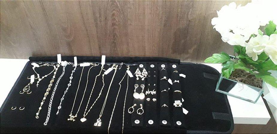 kit folheados atacado - Semi joias folheadas a ouro 18k 25 peças