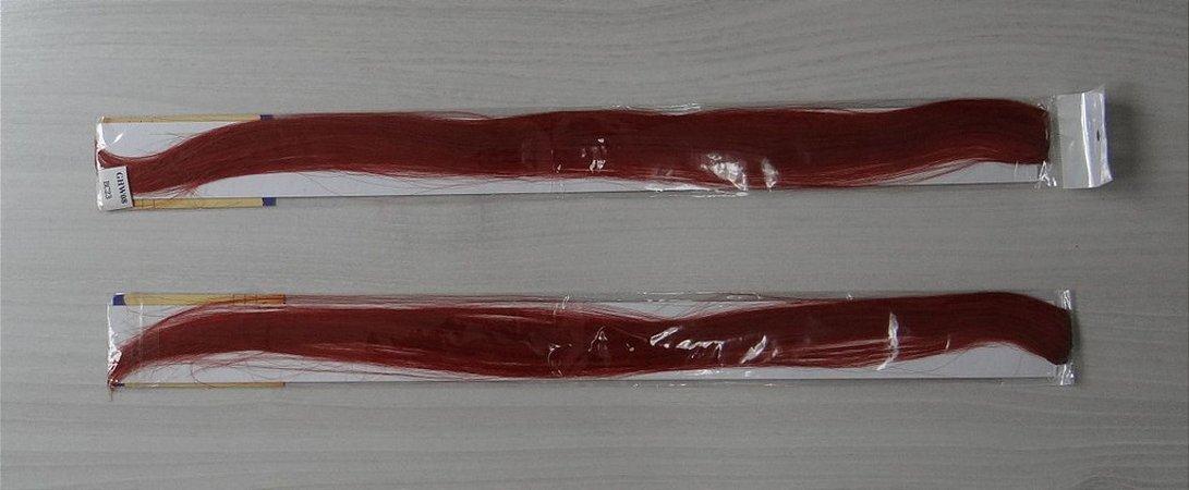 Apliques de kanekalon - cor ruivo alaranjado