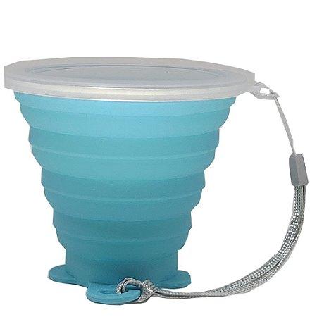 Copo de silicone 260ml | Azul