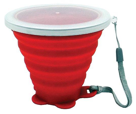 Copo de silicone 260ml | Vermelho