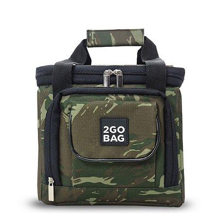 Bolsa Térmica 2go Bag Mid Camuflada com Capacidade para 6,6 Litros