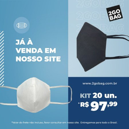 Máscara Esportiva Reutilizável Kit com 20 unidades