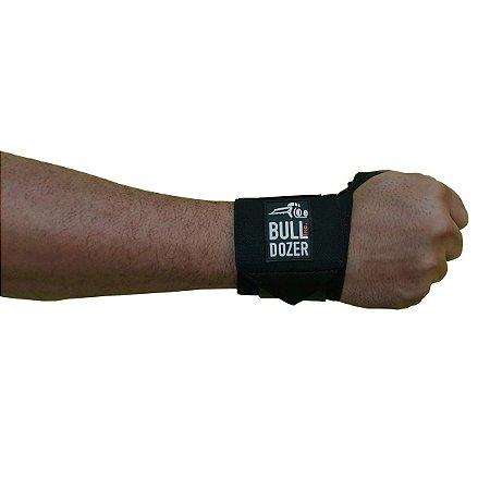Munhequeira para Academia Musculação Fit Bulldozer - Preta