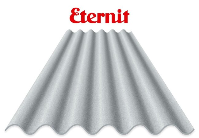 Telha Eternit 4mm 2,44m x 0,50m