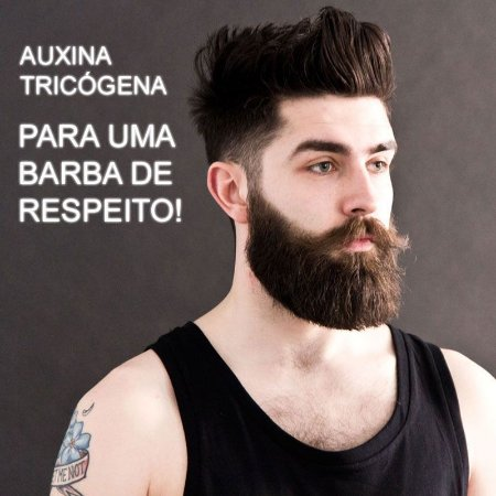 Auxina Tricógena - tratamento de barba