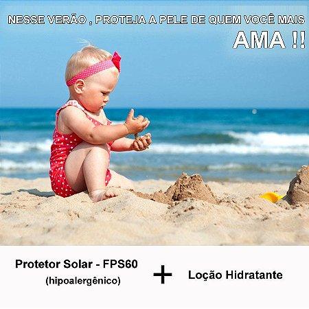Kit - Protetor solar FPS 60 e loção hidratante Bebe