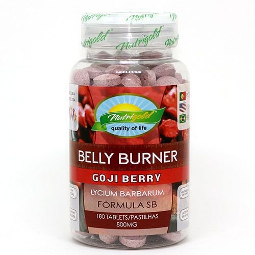 BELLY BURNER GOJI BERRY 800MG 180 PASTILHAS NUTRIGOLD