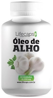 ÓLEO DE ALHO (ação anti-bacteriana) 250 Mg - 60 Capsulas