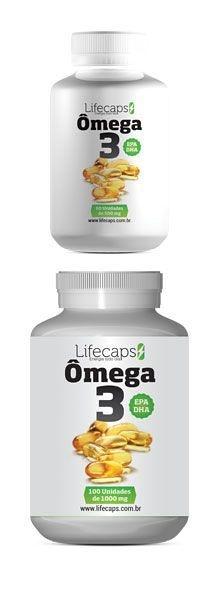ÔMEGA 3 (Normaliza a circulação sanguínea) 1000 Mg -60 Capsulas