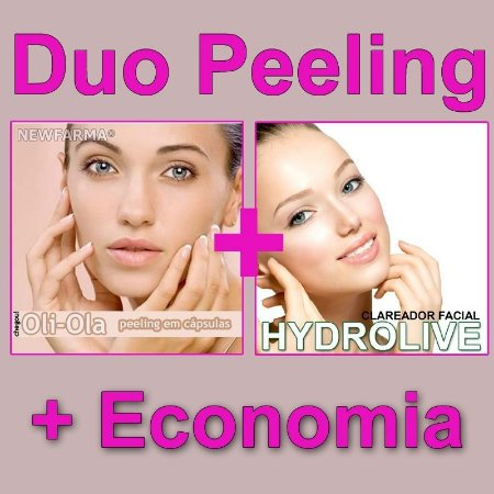 Duo Peeling (Clareador Oli-Ola 30Capsulas) mais (Hydrolive 30Gr)
